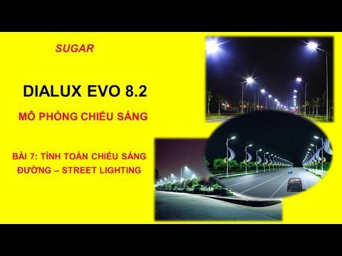 HƯỚNG DẪN PHẦN MỀM DIALUX EVO 8.2 - BÀI 7: TÍNH TOÁN CHIẾU SÁNG ĐƯỜNG – STREET LIGHTING | SUGAR MEPF