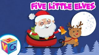 5 Little Elves Jumping On The Bed ???? Elf songs for Kids by BrainVault Games!