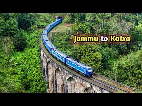 Jammu to Katra full Railway Tour | Mata Vaishno Devi yatra most Amazing Visuals.