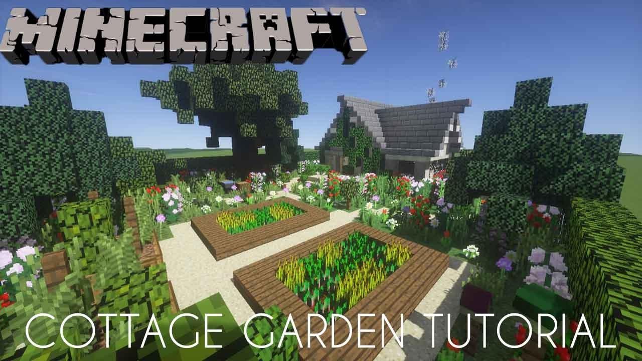 minecraft cottage garden tutorial - Minecraft Garden