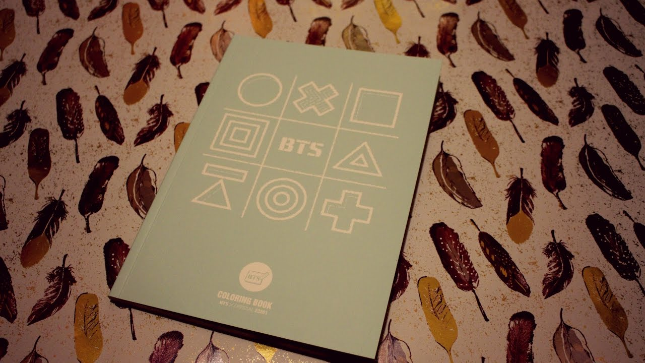 Bts Official Coloring Book Unboxing 3rd Muster Goods Youtube