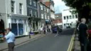 Saturday crowded market place in Bridport or BROADCHURCH