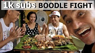Filipino BOODLE FIGHT! [Family Mukbang]