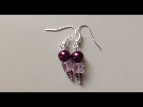 How to Make a Pair of Beaded Earrings (Easy)