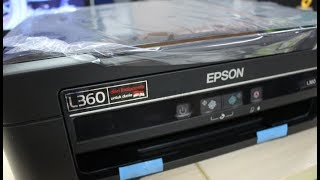 Epson L360 All-in-One Printer - Preparing Installing and Testing