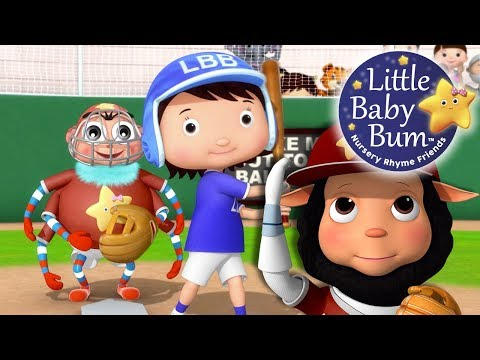 Thumbnail: Take Me Out To The Ball Game | Nursery Rhymes | By LittleBabyBum!