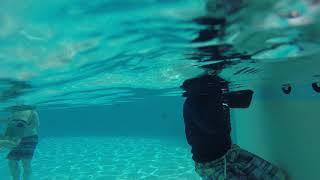 Daniel swimming at Legoland hoten