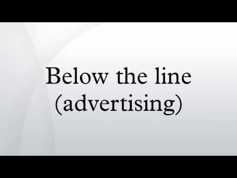 Below the line (advertising)
