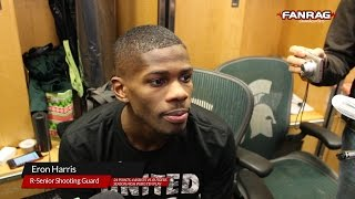 Michigan State Basketball: Eron Harris after scoring 24 points against Rutgers