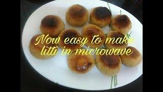 Litti making in Microwave/how to make litti in Microwave/ Microwave litti/Sattu litti recipe