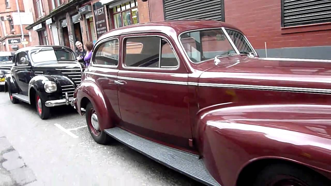 classic 1940s america cars on the set of captain america in manchester 21st sept