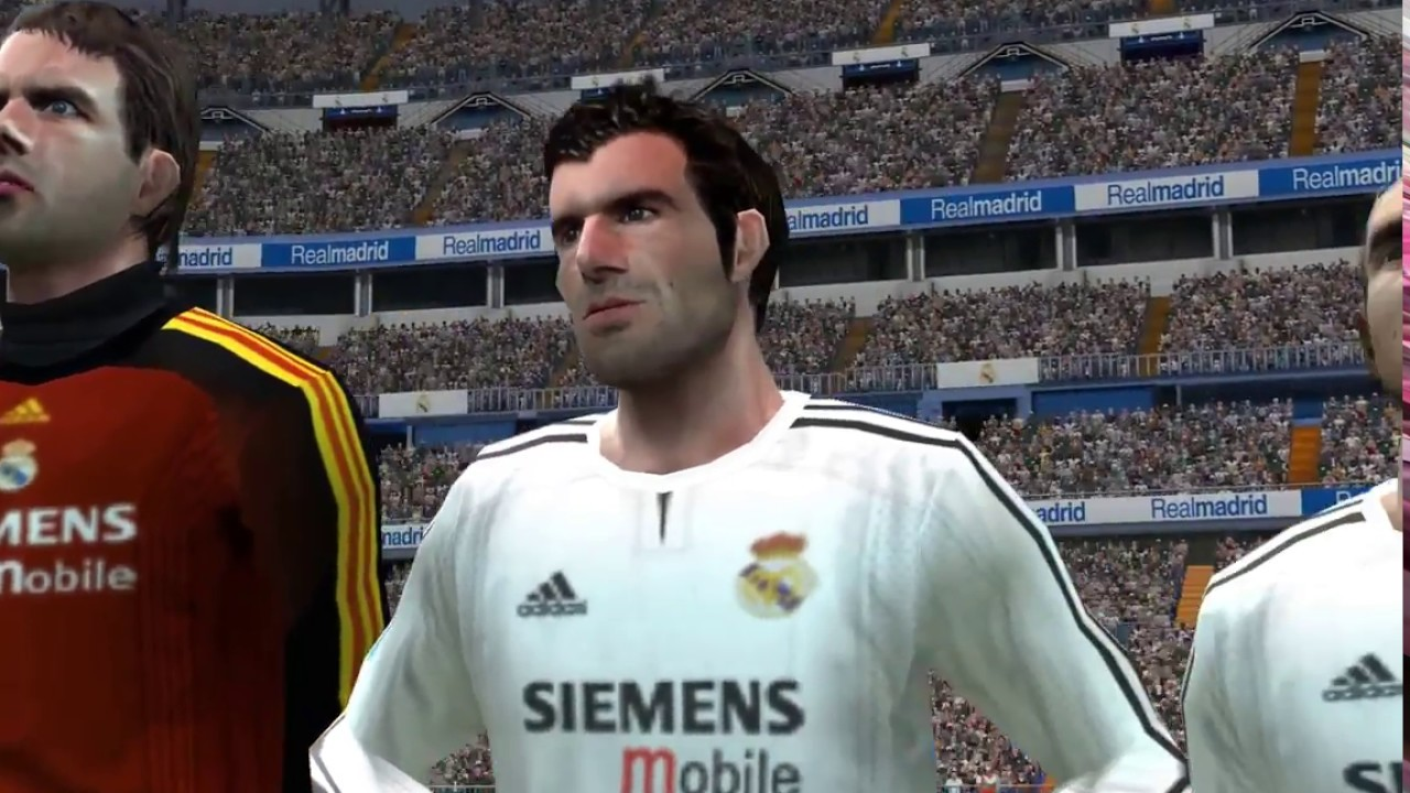 09f819c33 Real Madrid 2003 Galacticos vs FC Barcelona 2016 match PES6 GReat match !!  - YouTube