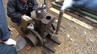 Old Engines in Japan 1930s SATO's SEMI DIESEL ENGINE 2hp Part 1 いにしえの発動機たち 1933年頃 サトー式軽油発動機 2馬力