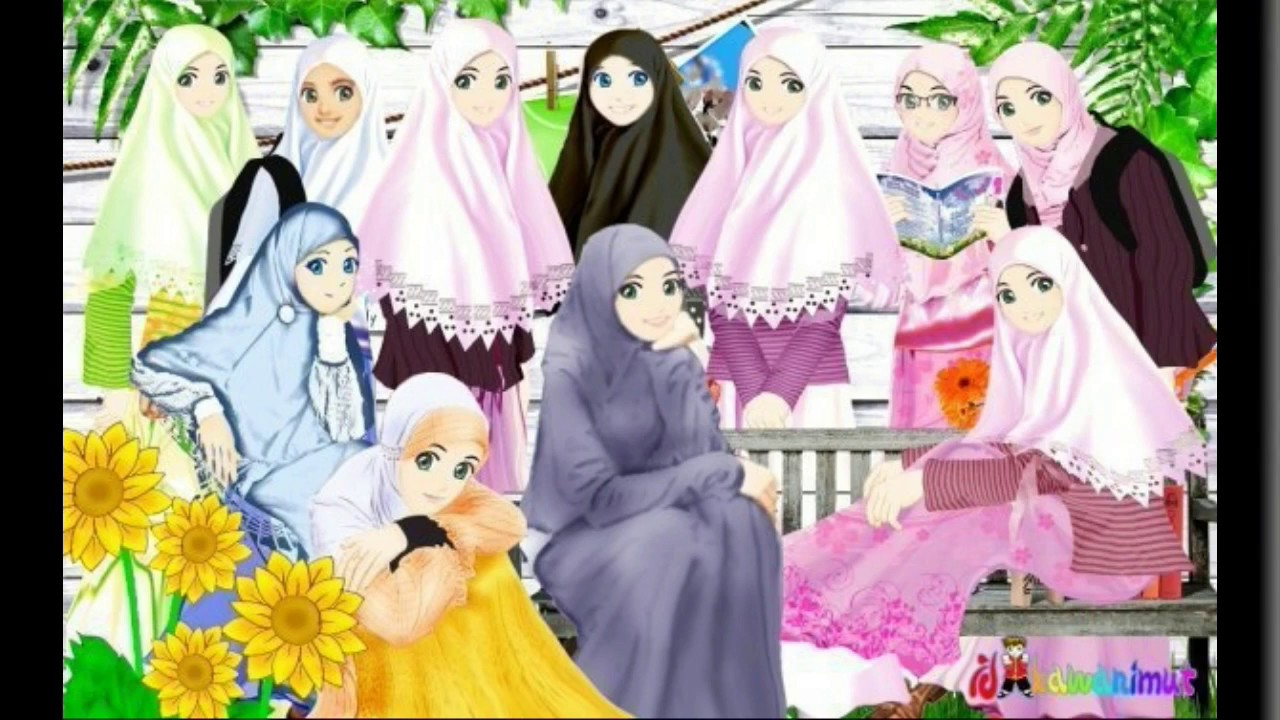 Album Kartun Muslimah Cantik YouTube