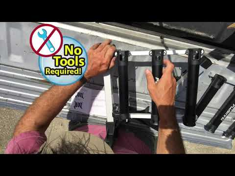 PLUSINNO Portable Fishing Rod Rack (Holds Up To 6 Rods)