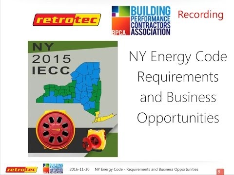 NY Energy Code - Requirements and Business Opportunities (December 1, 2016)