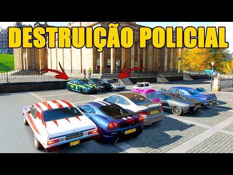 CABO LEITE QUENTE NO DESTRUIÇÃO POLICIAL - Forza Horizon 4 - GamePlay