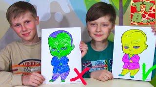 3 МАРКЕРА ЧЕЛЛЕНДЖ с Игорьком! Видео для детей - 3 MARKER CHALLENGE!