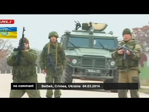 Russian troops fire warning shots at Crimean airbase - no comment