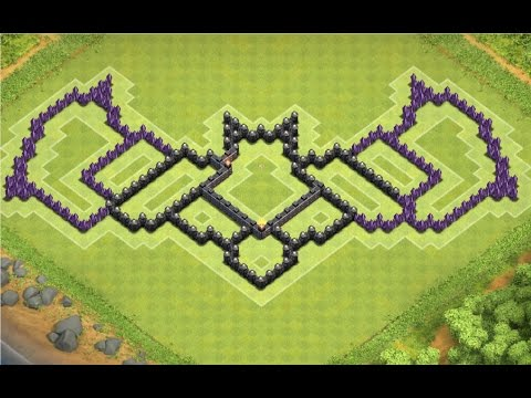 Clash of Clans | TH8 Batman Base (4 Mortars)