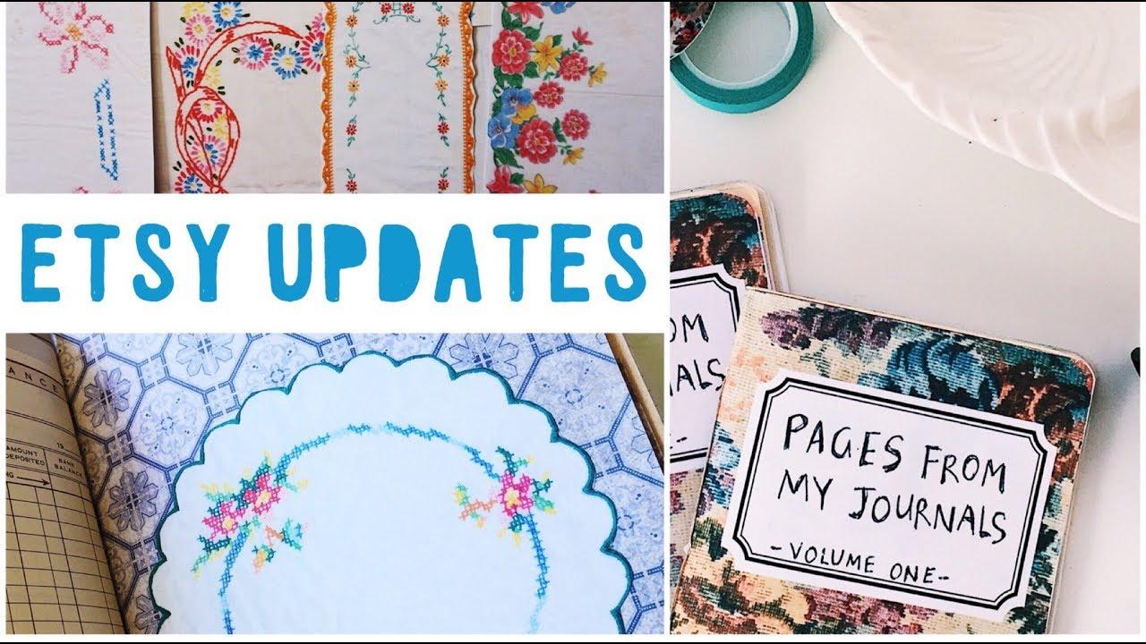 Etsy Shop Updates | Digitals, Zine and Vintage Linens Printables