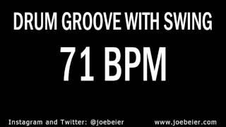 71 BPM - Simple Swing Drum Beat - Backing Drum Track - Practice Tool