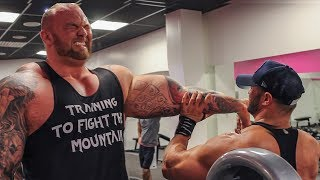 THE MOUNTAIN  Game Of Thrones in Real life. And he is HUGE!!! Cleganebowl