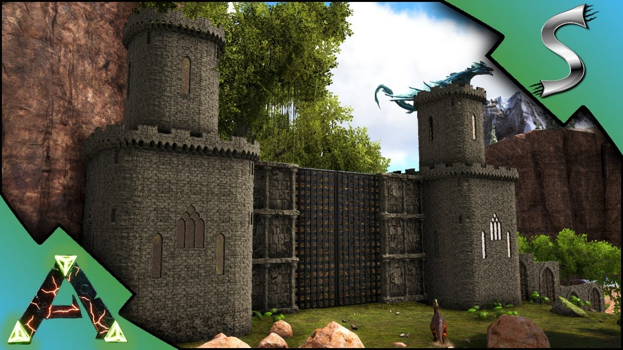 Building the castle gate and towers base begins ark ragnarok building the castle gate and towers base begins ark ragnarok dlc gameplay e25 malvernweather Gallery
