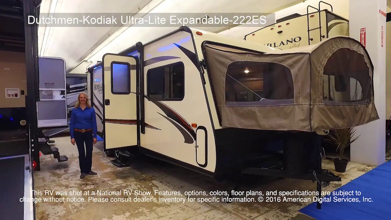 2018 Kodiak Travel Trailers Floor Plans New 2018 Dutchmen Rv Kodiak Ultra Lite 222es Expandable