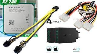 Посылка с Али для Майнинга. Pci-e и Molex сплиттеры, переходник 8 pin CPU на 2* 6+2 PCIe и Зарядка