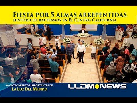 Fiesta por 5 almas arrepentidas, históricos bautismos en El Centro California.