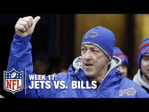 Bills Legend Jim Kelly Throws Shanked Punt into Stands | Jets vs. Bills | NFL