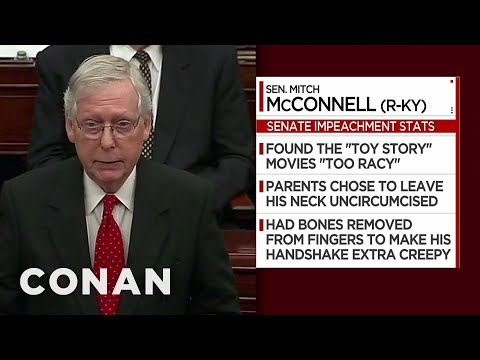 Impeachment Trial Facts: Mitch McConnell Edition - CONAN on TBS