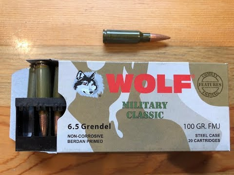 6.5 Grendel Wolf Military Classic Ammo