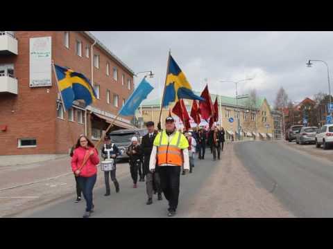 1:a maj firande och demonstrationståget i Kalix