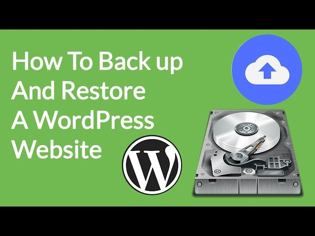How to Backup WordPress Site manually and Restore with UpdraftPlus  2017