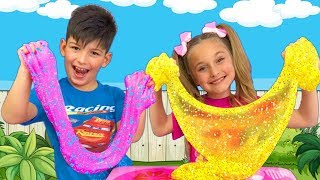 Download Sasha and compilation of Funny Stories with Slimes for kids Mp3 and Videos
