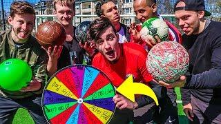 ULTIMATIVE GLÜCKSRAD BÄLLE FUßBALL CHALLENGE!!!