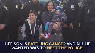 Boy with cancer who wanted to 'meet the police' gets his wish