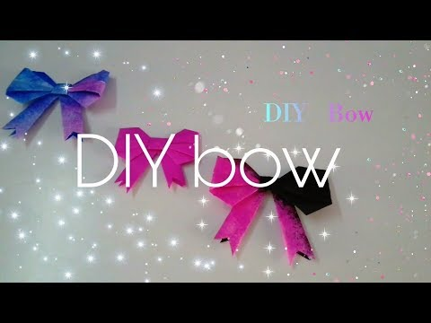 ( DIY ) How to make a paper bow