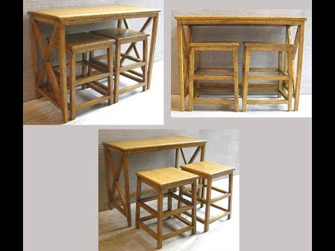 112th Scale Breakfast Bar and Stools Tutorial