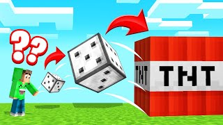 50% CHANCE To LIVE Or DIE! (Minecraft Lucky Dice)