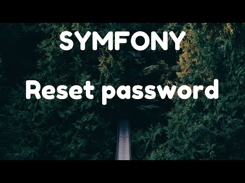 Reset Password - Symfony 4