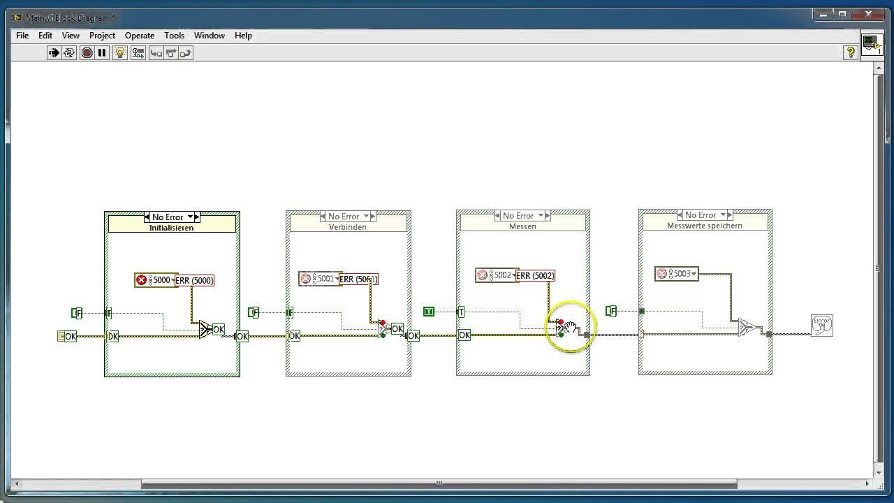 LV08 - Fehlercluster in LabVIEW richtig einsetzen