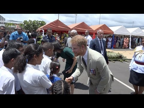 Traditional Farewell Ceremony for the Duke and Duchess of Sussex & unveiling of Sgt. Labalaba statue