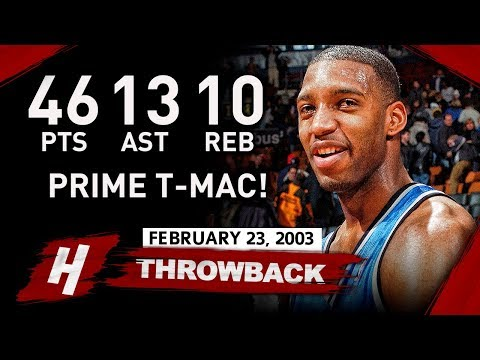 Tracy McGrady EPIC Triple-Double Highlights vs Nets (2003.02.23) - 46 Pts, 13 Ast, 10 Reb!