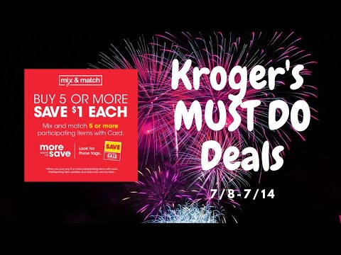 Kroger *MUST DO* Deals: MEGA Sale & MORE | 7/8-7/21 | *14 FREEBIES*