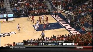 [11.14.11] Kevin Pangos - 33 Points (9 Three Pointers) Vs Washington State (Complete Highlights)
