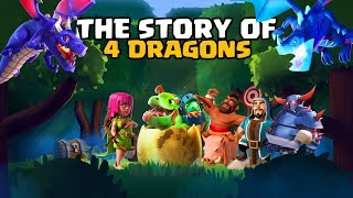 4 Dragon's Origin Story - Entire Dragon Family Story | CoC Meets Clash Royale - World of Clash Story