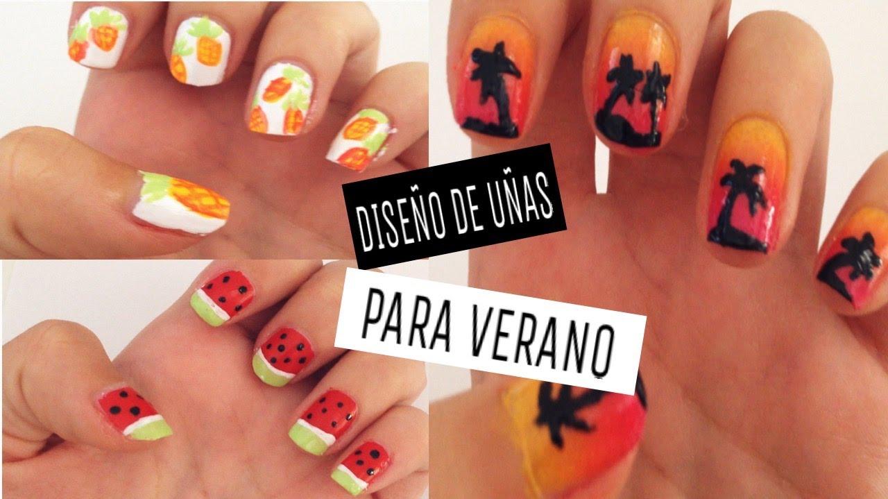 Contemporáneo Diseño De Uñas Para El Verano Modelo - Ideas de Diseño ...